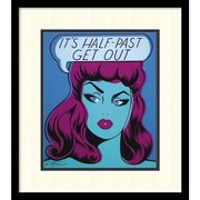 "Amanti Art Niagara Detroit 'It's Half Past Get Out' Framed Art Print 17"" x 19"" (DSW1418365)"