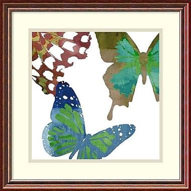 Amanti Art ? Imprimé encadré Scattered Butterflies II par Sisa Jasper, 18 x 18 po (DSW1418538)