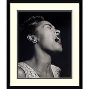 "Amanti Art William P. Gottlieb 'Billie Holiday' Framed Art Print 17"" x 20"" (DSW1418614)"