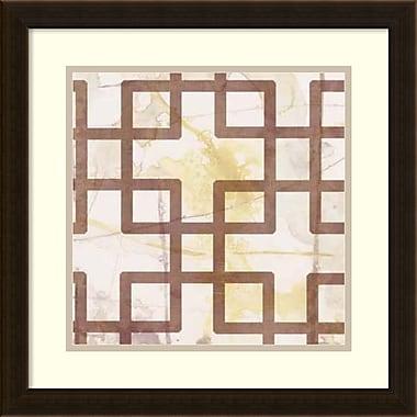 Amanti Art ? Imprimé encadré Custom Marsala Metric Link I par Jennifer Goldberger, 18 x 18 po (DSW1421234)