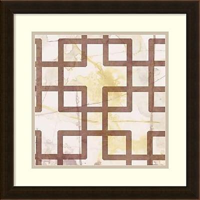 Amanti Art Jennifer Goldberger 'Custom Marsala Metric Link I (ST)' Framed Art Print 18