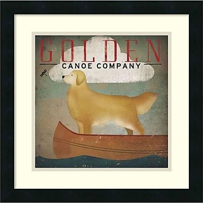 Ryan Fowler 'Golden Dog Canoe Co. (left face)' Framed Art Print 18