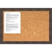Whiskey Brown Rustic Cork Board - Medium Message Board 26 x 18-inch (DSW1418339)