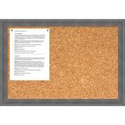 Dixie Grey Rustic Cork Board - Medium Message Board 26 x 18-inch (DSW1418342)