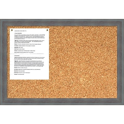 Dixie Grey Rustic Cork Board - Medium Message Board 26 x 18-inch (DSW1418342)