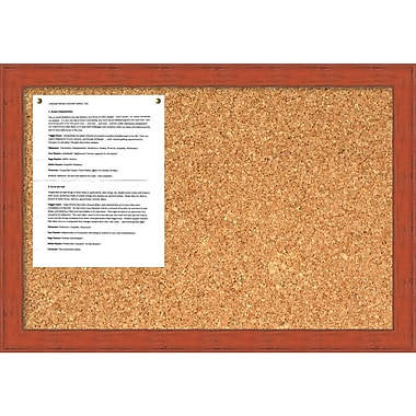 Amanti Art Bourbon Orange Rustic Cork Board Medium Message Board, 26 x 18