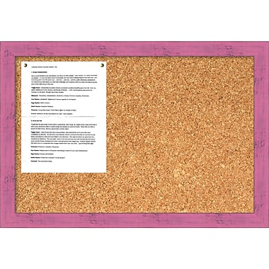 Amanti Art Petticoat Pink Rustic Cork Board Medium Message Board, 26 x 18