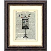Amanti Art Marion McConaghie 'Bird Cage & Butterflies' Art Print 17 x 20 in. Black Frame (DSW1418450)