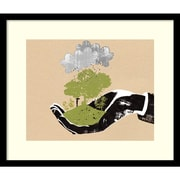 Amanti Art Katie Edwards 'In Your Hand' Art Print 20 x 17 in. Black Satin Wood Frame (DSW1421662)