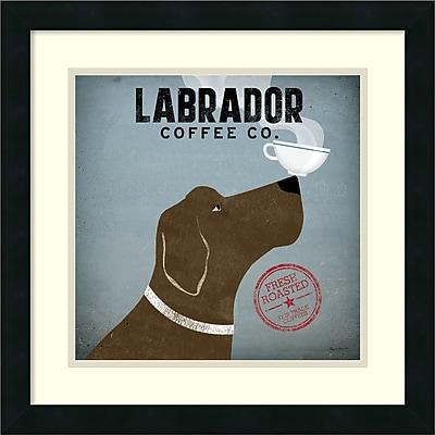 Amanti Art Ryan Fowler 'Labrador Coffee Co.' Art Print 18 x 18 in. Satin Black Wood Frame (DSW2970176)