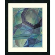Amanti Art Grace Popp 'Gemstones III' Art Print 18 x 22 in. Satin Black Wood Frame (DSW2971940)