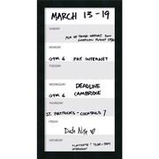 Amanti Art ? Calendrier hebdomadaire effaçable à sec Mezzanotte, vertical, 14 x 26 po, cadre noir satiné (DSW2973017)