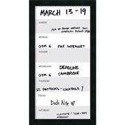 "Amanti Art Mezzanotte Vertical Dry-Erase Week Calendar, 14"" x 26"", Satin Black Frame (DSW2973017)"
