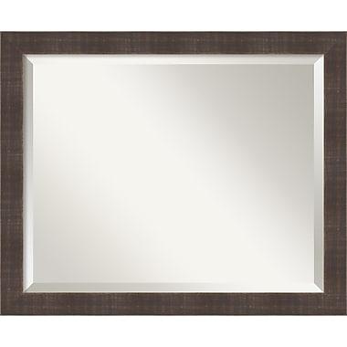 Amanti Art ? Miroir mural brun whisky rustique, moyen, 22 x 18 po, brun (DSW1418226)