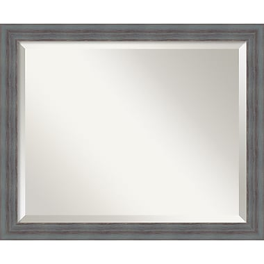 Amanti Art Dixie Grey Rustic Wall Mirror, Medium 22