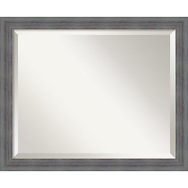 Amanti Art ? Miroir mural gris rustique Dixie, cadre gris