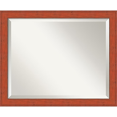 Amanti Art Bourbon Orange Rustic Wall Mirror, Medium, 22