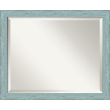 Amanti Art Sky Blue Rustic Wall Mirror, Medium, 22