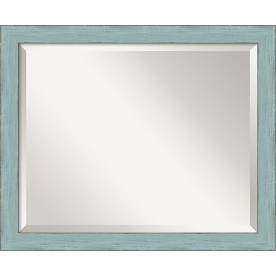 Amanti Art Sky Blue Rustic Wall Mirror - Medium 22