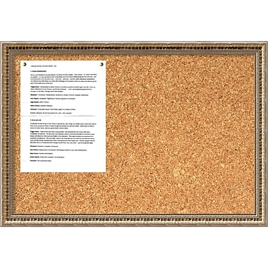 Amanti Art Fluted Champagne Cork Board Medium Message Board, 26 x 18