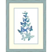 Amanti Art Grace Popp 'Butterfly Falls I' Art Print 20 x 26 in. Country Blue Wood Frame (DSW1418400)