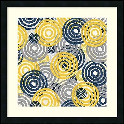Amanti Art Alicia Soave 'New Circles 1' Art Print 22 x 22 in. Satin Black Frame (DSW1418530)