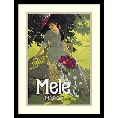 Amanti Art ? Imprimé Lady in Green de Aleardo Terzi, 1914, 17 x 23 po, cadre en bois noir (DSW1418667)