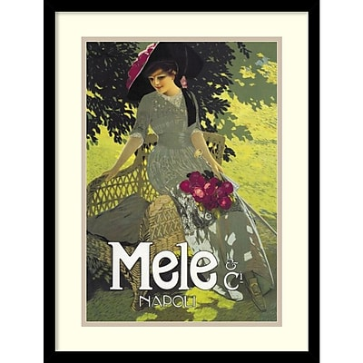 Amanti Art Aleardo Terzi 'Lady in Green, 1914' Art Print 17 x 23 in. Black Wood Frame (DSW1418667)