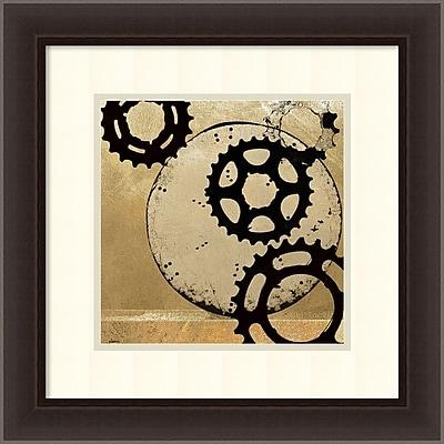 Amanti Art Noah 'Sprockets II' Art Print 20 x 20 in. Espresso Wood Frame (DSW1418700)