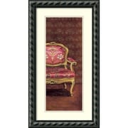 Amanti Art M. Santambrogio 'Sofa I' Art Print 15 x 27 in. Black Wood Frame (DSW1421310)