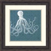 "Amanti Art Vision Studio Coastal Menagerie VII Art Print, 20"" x 20"", Aged Pine Frame (DSW1421360)"