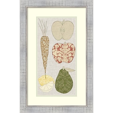 Amanti Art Vision Studio Contour Fruits and Veggies VII Framed Art Print, 17