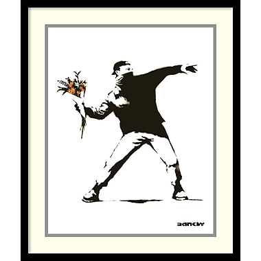 Amanti Art Banksy Molotov Framed Art Print, 21