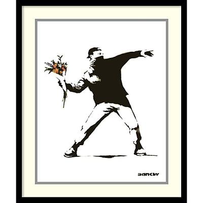 Banksy 'Molotov' Framed Art Print 21