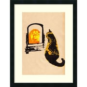 Amanti Art Katie Edwards 'Think Big Brown' Art Print 20 x 26 in. Satin Black Wood Frame (DSW