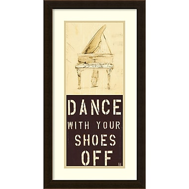Amanti Art ? Impression encadrée « Dance With Your Shoes Off » par Kelsey Hochstatter, 14 x 26 po (DSW1384998)