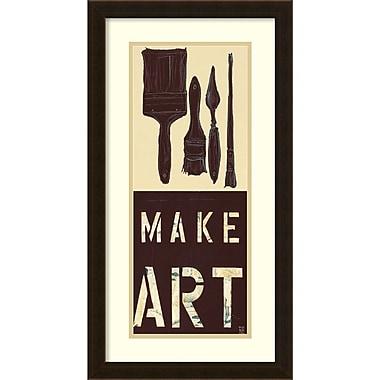 Amanti Art ? Impression encadrée « Make Art » par Kelsey Hochstatter, 14 x 26 po (DSW1385000)