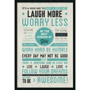 """Be Awesome' Framed Art Print with Gel Coated Finish 25"""" x 37"""" (DSW1408599)"""