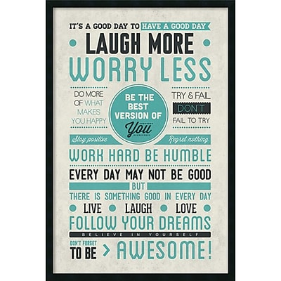 Be Awesome' Framed Art Print with Gel Coated Finish 25
