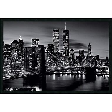 Brooklyn Bridge - Black and White' Framed Art Print with Gel Coated Finish 37