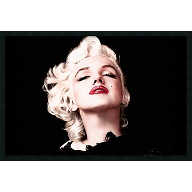 Amanti Art Marilyn Monroe Eyes Shut Framed Art Print with Gel Coated Finish, 37