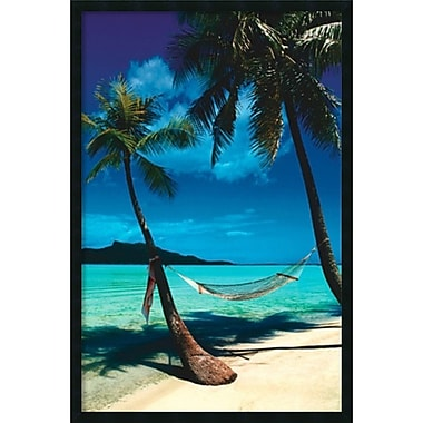 Amanti Art Peaceful Beaches Framed Art Print with Gel Coated Finish, 25