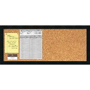Amanti Art Mezzanotte Cork Board - Panel Message Board 32 x 14