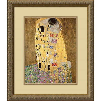 Gustav Klimt 'The Kiss, 1907-08 (detail ii)' Framed Art Print 18