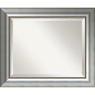 Amanti Art Vegas Burnished Silver Wall Mirror, Medium, 25