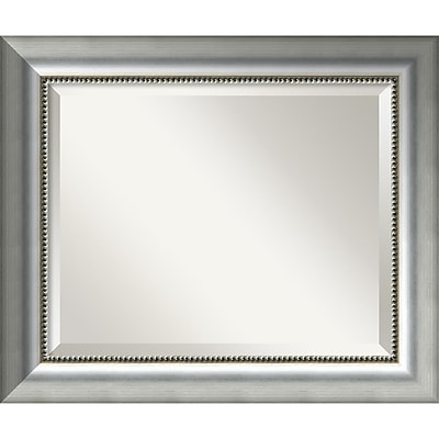 Amanti Art Vegas Burnished Silver Wall Mirror - Medium 25