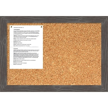 Amanti Art Woodridge Grey Cork Board Medium Message Board, 27 x 19