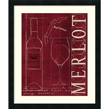Amanti Art ? Impression encadrée « Bleu de vin II v2 » par Marco Fabiano, 21 x 25 po (DSW1418636)