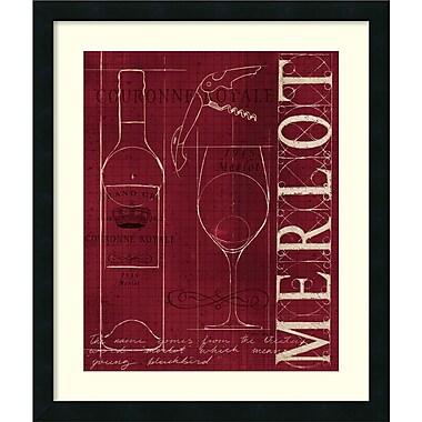 Amanti Art Marco Fabiano Wine Blueprint II v2 Framed Art Print, 21