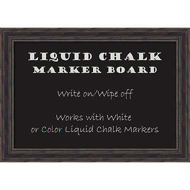 Amanti Art Rustic Pine Liquid Chalk Marker Board Medium Message Board, 28 x 20